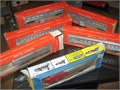 HO Scale - Model Power Santa FE Locomotive Train Engine and five cars with boxes Asking 95