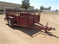 UTILITY  TRAILER  1 AXLE  TRAILER TIRES size ST 225 75 R15 15 IN  6 LUG WHEELS ALL METAL  2 IN BALL