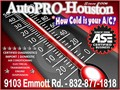 Certified import and domestic automotive air conditioning service and repair in Houston Harris Count