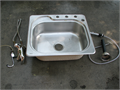 Kohler Stainless Steel Sink Width 2 1 Front to Back 1 10 Includes Faucet and Parts 6500 951-53