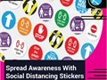 Social Distancing Sticker