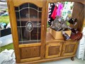 Wood entertainment center 51 x 51 with width for 28 TV  50