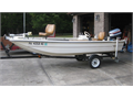 1983 15 ft Troller fiber glass fishing boat 35 horsepower Evinrude Excellent condition Garage kep