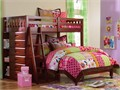 twin over full solid wood loft bunk beds with built in 6 drawer chest and bookcase  New wholesale o