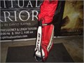 This is a used Dunlop racing bag and has a tear at the side bottom bag otherwise in great shape