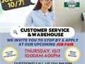 CUSTOMER SERVICE JOB FAIR THURSDAY 107 10AM-4PMWere hosting an on-site J