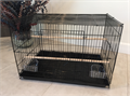 Rectangular Bird Cage for all Birds never been used Size 24x16x16 Color blackIncludes 2 p