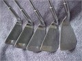 John Riley Repeater irons including a 3 5 8 and 9-iron plus a sand wedge in used condition  RIGHT