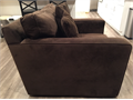 I have an oversized brown microfiber chair for sale  Removable cushions and the chair can spin free