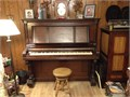 PIANO - WING AND SON CABINET GRAND PIANO - Excellent Condition - Purchased In 1949 - Original Ivory