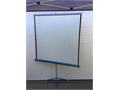 Vintage DA-LITE Flyer Movie Projection Screen 48 x 48 in great shape everything works as it shou