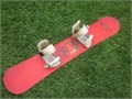 SIMS  139cm twin tip snowboard with Preston medium Ratchet bindings great condition very minor scr
