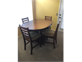 Dinette set w6 chairs 15000Coffee and 2 end tables 7500 520-247-2532
