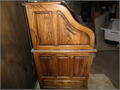 Solid oak roll top desk with hidden compartmentBuilt in desk light in mint condition Solid oak c
