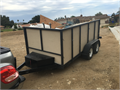 Utility trailer approximately 125 feet long 5 feet wide and 5 feet high  2 axel custom build mus