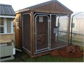 Single or Double Run Dog Kennel Features include Composite Flooring w Concealed Fasteners to wash