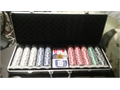 Brand new never used 500ct chips and playing cards in nice metal carrying case great for traveling C