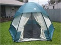 WILDERNESS TRAILS Dome Tent 11 Diameter x 72 tall sleeps 4-6 removable rain fly MINT condition