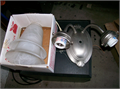 BRAND NEW WALL LAMP with 2 shades  silver color  562 761-7808