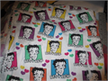 vintage Betty Boop 100 cotton fabric sold by the yard 36 x 36 pcs 500 310-645-9708