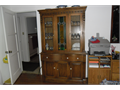 China hutch made of solid hardwood stain glass Round drawers very expensive to make High end furn