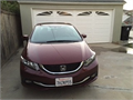 2014 Honda Civic EX-L Used 36245 miles Private Party Sedan 4 Cycle Exterior  Burgundy Interi