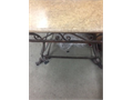 marble dining room table with metal feet good condition 20000 818-634-7602