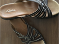 Leather Sandals by Clarks Ladies size 10M color - brown Nonsmoking home original owner gently w