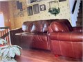 2 piece brown leather sofa and chair  Barely used  Asking 700 or Best Offer