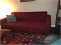 Mid century modern couch like New No wear and tearDimensions 81 L x 33 D x 30 HRich Dark