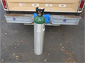 Oxygen Tank  42 Inch Aluminum tank  price--110no gas in the tank  good cond   if you need gr