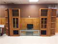 Entertainment Center oak 78H corner shelving units are 16 x 16 square shelving units are 28W x