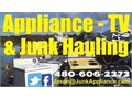 Appliance TV  junk removal - washers dryers fridges furniture etc Contact us anytime 480