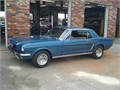 Restored 64 12 Ford Mustang Gaurdsman blue with black interior 289 CID with C4 auto transmission
