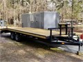 Trailer - deckover 18 with 5 dovetail 23 total length of bed 83 width Tandem axles with brak