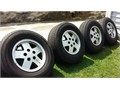 4 15 5 bolt hole Aluminum Alloy wheels with 23575R15 tires off a 1991 Chevy s10 pickup 20000 814