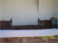 Vintage Fireplace Bumper Oak Adjustable 45to60 in very good condition 25000 818-926-0906