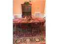 Pine dining room set Dining room table  6 chairs china cabinet with glass display drawer and ca