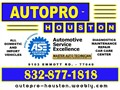 AutoPRO-Houston ASE Certified Techs have been serving Houston Katy Cypress Richmond and Surroundi
