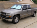 2001 Chevrolet Silverado 1500 LT Extended Cab Grey Putter Color with Blue Leather Interior Milag