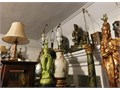 Today 9am - 5pm 3715 S Arlington Los Angeles Packed Sale Lots of Vintage Stuff Japanese Lamps Statue