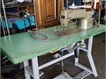 Sewing Industrial Machine and Table  CONSEW clutched motor 48X30 heavy base table Great machine