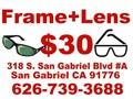 Free Single vision Prescription glasses lenses when buying a frame Complete pairs eyeglasses frame