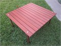 Camping ROLL-A-TABLE  30 X 30X 18H  rolls up to 5-12 dia x 32 L MINT CONDITION Solid Wood co