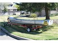 Early 1970 15 Grumman aluminum positive flotation boat and trailer 2-person ca