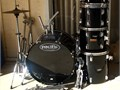 Vintage  Premier Olympic Drum set Bass 16-22 with twin spring double head pedal Toms 9-12 10