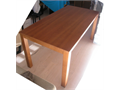 Dining Room Table plus six chairs made in Italy of cherry wood  90cm x 200cm extensible to 240cm s