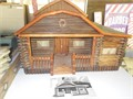 This is a one of a kind Doll house made in Denton Montana part of a living estate sale  It is made