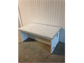 White distressed bench