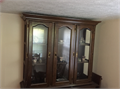 China Cabinet For Sale - has a lighted up display inside - perfect condition - 2 pieces Top  Bottom